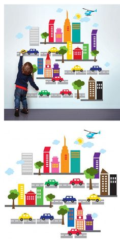 Wallcandy Arts French Bull City Wall Decals - Wall Sticker Outlet