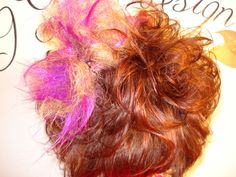Hair style with handmade accessories made by Gunta