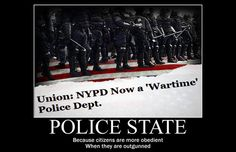 NYPD Now Officially a 'Wartime' Police Department