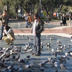 פלאזה קטלוניה, חורף, ברצלונה, plaza catalunya