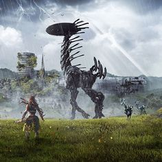 Horizon Zero Dawn / PlayStation 4 #Robots #HorizonZeroDawn #PlayStation4 #PS4Pro #the4players #LivingPlayStation #Rol #RolePlaying #RPG #JRPG #RPGAction
