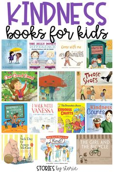 Books to teach kindness and why it matters to kids. Kids relate to the stories they hear over and over again, so why not teach them kindness? From Stories by Storie Books About Kindness, Teaching Kindness, Kindness For Kids, Teaching Emotions, Social Emotional Learning, Emotional Books, Social Skills, Preschool Books, Mentor Texts