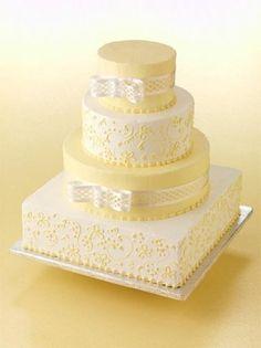 Yellow Wedding Cake ~