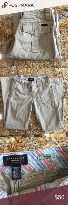 """Anthropologie sanctuary peace twill pants 28 X 31 📦⚡️SHIPPING 🚭&🐶FREE🏠🏆TOP-RATED SELLER 👍🏽💯% REPUTABLE eBay SELLER ✔️FEEDBACKS @ http://ebay.to/29sr08u                                                💰10% off bundle deals + 3   🚫No trades or 🚫low ball offers 🚫No holds. New never worn  sanctuary pants from Anthropologie size 28 length 31"""" rise is 9"""". 98% cotton 2% spandex. Sanctuary Pants Trousers"""