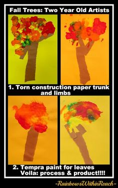 Fall Tree Art Project by Toddlers
