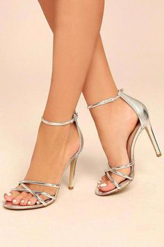 27ce4360908cef With the Michella Silver Ankle Strap Heels in your shoe collection