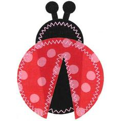 Red Polka Dot Ladybug Iron-On Applique