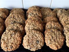 Mennonite Girls Can Cook: Big Oatmeal Raisin Cookies- wonderful chewy oatmeal cookies Oatmeal Cookie Recipes, Oatmeal Raisin Cookies, Cooking 101, Cooking Recipes, Big Cookie, Roasted Almonds, Gluten Free Cookies, Cookie Dough, Sweet Treats