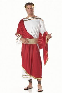 Amazon.com: Mens Adult Mens Zeus Toga Outfit Greek Roman Caesar God California Costume Collection Costume Halloween Outfit: Clothing