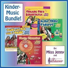 """Kindergarten Beginning of the Year Music Bundle, by """"Miss Jenny and Edutunes"""""""