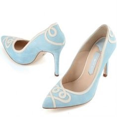 Ana by Charlotte Mills Pale Blue Designer Wedding or Occasion Shoes - SALE