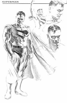 Kingdom Come Superman design sketch by Alex Ross