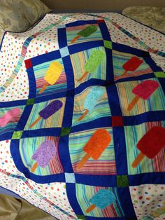 All Done! A picnic quilt for Justin and Patrick made from Alex Anderson's pattern.....
