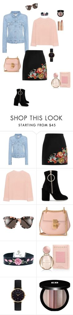"""""""Flower power"""" by ulusia-1 ❤ liked on Polyvore featuring Acne Studios, River Island, iHeart, Off-White, Gentle Monster, Chloé, Bulgari, Abbott Lyon, Edward Bess and Charlotte Tilbury"""