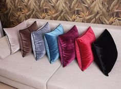 velvet cushion - Google Search