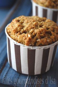muffin banane, avoine et beurre d'arachide