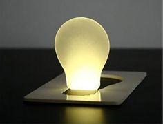 Flat Lamp: Pocket Card LED Light Lamp  ingenious...