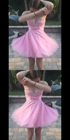 Custom Made Homecoming Dresses, Cute Homecoming Dresses, Homecoming Dresses Pink #Homecoming #Dresses #Pink #Custom #Made #Cute Homecoming Dresses 2018