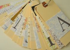 homework: creative inspiration for home and life: Inkling: hang tag rolodex
