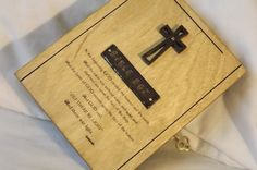 Bible Lock Box. Hand Made LOCKABLE WOODEN by DAWNaffirmationBoxes