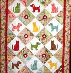 Celebrate the love of your 4-legged friends with these pet quilt patterns - on Craftsy