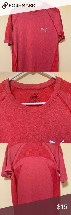 a263ef88bbc8 Red Puma T-shirt - Athletic wear - Puma - No tags but never worn - mesh  material all around the shirt - Red - Unisex Puma Shirts Tees - Short Sleeve