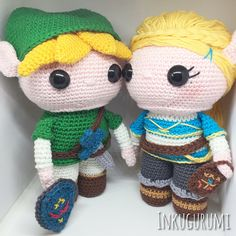 Link and Zelda Discount Package crochet patterns in English and Dutch by Inkugurumi