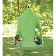 toffe schommel HugglePod™ HangOut Indoor/Outdoor Hanging Chair - comes with built in lights, so cool. Outdoor Play, Indoor Outdoor, Outdoor Swings, Ideas Decorar Habitacion, Cool Swings, Swings For Kids, Outside Toys For Kids, Outdoor Toys For Kids, Backyard Playground