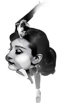 Audrey Hepburn Painting - Audrey Hepburn 5 Black And White Portrait by Diana Van Audrey Hepburn Painting, Nostalgic Art, She Movie, Black And White Portraits, Hollywood Stars, Unique Art, Fine Art America, Diana, Fine Art Prints