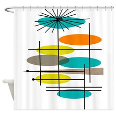 Eames Inspired Shower Curtain on CafePress.com