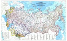 National Geographic's political map of Russia and the independent states of the former Soviet Union is one of the most authoritative maps of region. This Classic style wall map features a bright color palette with blue oceans and the country's terrain det Russia Map, National Geographic Maps, Art Mur, Modern Oil Painting, World Map Canvas, Wall Maps, Living Room Pictures, Wall Pictures, Peta