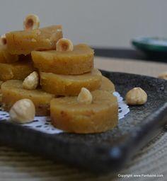 Diwali Munchies: Hazelnut & Almond 'Cake' @Panfusine