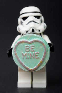 """Lego Star Wars Valentine  """"Be mine ???""""  I think that this stormie has a message for you?  By Sad Old Biker - Kevin Poulton"""