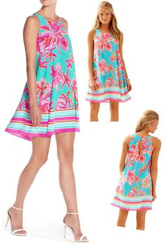 0a4a6bf8e12c  198 Lilly Pulitzer Wright Sea Blue Via Sunny Engineered Trapeze Dress   LillyPulitzer  Trapeze