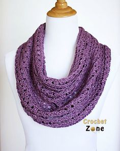 Free Crochet Pattern Eve Scarf by Crochet Zone