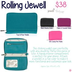Rolling Jewell by Thirty-One. Fall/Winter 2015. Click to order. Join my VIP Facebook Page at https://www.facebook.com/groups/1603655576518592/