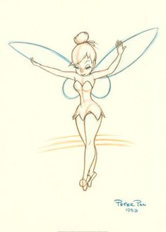 tinkerbell..pretty print. Scarlett would be crazy happy if I could draw tinkerbell and this looks like a good sketch to learn how.