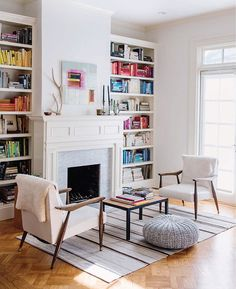 Living room organization tips from Toni Hammersley's book, The Complete Book of Home Organization.