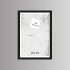 GOOD WILL HUNTING 12x18 Minimal Movie Poster Print of Quote from the film. $25.00, via Etsy.