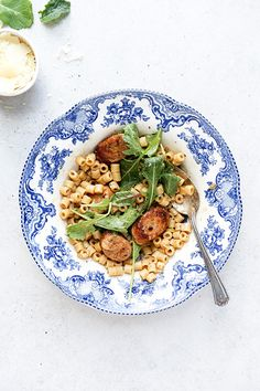 One-Pot Ditalini Risotto with Spicy Chicken Sausage | www.floatingkitchen.net