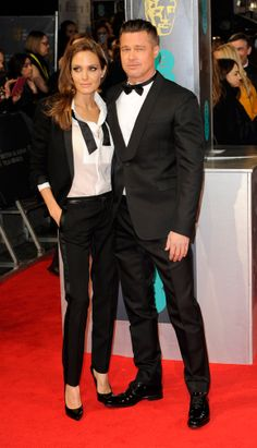 BAFTA 2014 - Brad Pitt and Angelina Jolie