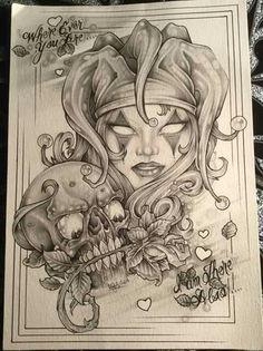 Lowrider Drawings, Lowrider Art, Jester Tattoo, Witch Tattoo, Graffiti Tattoo, Cholo Art, Chicano Art, Tattoo Design Drawings, Tattoo Sketches