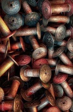 ˚Old Thread Spools