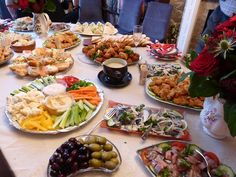 Savoury Table for a buffet party