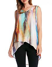 Layered Watercolor Tank