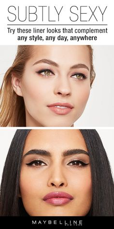 For an eye look that's defined but not too heavy, try these subtle eyeliner looks. These liner looks are just what you need for a classic, everyday makeup look. Find out how to perfect the art of subtly sexy at Maybelline.com today.