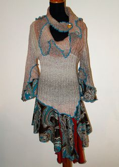 L XL size Recycled/ Refashioned Stylish by alenahandmadegifts, $74.95