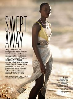 Snapshot: Lupita Nyong'o by Emma Tempest for InStyle Magazine December 2013 - The Fashion Bomb Blog : Celebrity Fashion, Fashion News, What ...
