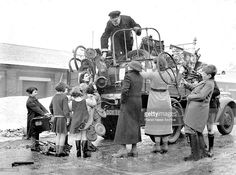 The first 'Scrap Week sponsored by the Ministry of Supply is in progress at Acton, London, where borough council vans are collecting scrap iron and steel from residents. Enough to fill a number of ships has already been collected. Similar 'Scrap Weeks are to take place in cities throughout Britain.