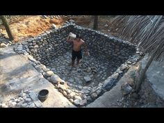 life in the forest This video i build a Stone-Swimming Diy Pool, Small Backyard Pools, Backyard Landscaping, Small Pools, Natural Swimming Ponds, Swimming Pools Backyard, Lap Pools, Natural Pools, Indoor Pools